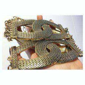 Chico's | Gold Designer Inspired Chain Waist Belt